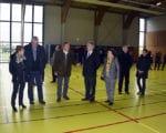 Visite du Conseil départemental au gymnase de Besserette - 31 octobre 2018.