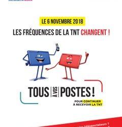 Changements des fréquences TNT le 6 novembre