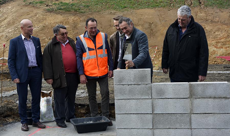 Pose de la première pierre de la nouvelle station d'épuration de Saint-Flour