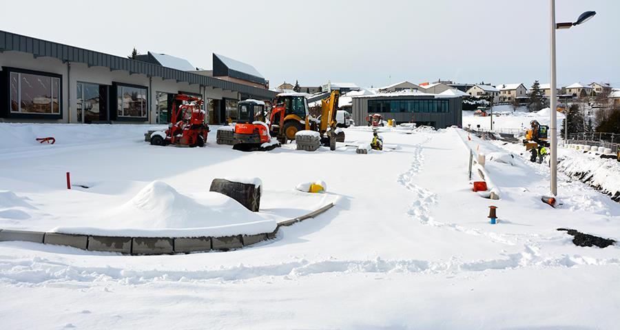 le chantier du Groupe scolaire de Besserette se poursuit malgré les conditions météorologiques