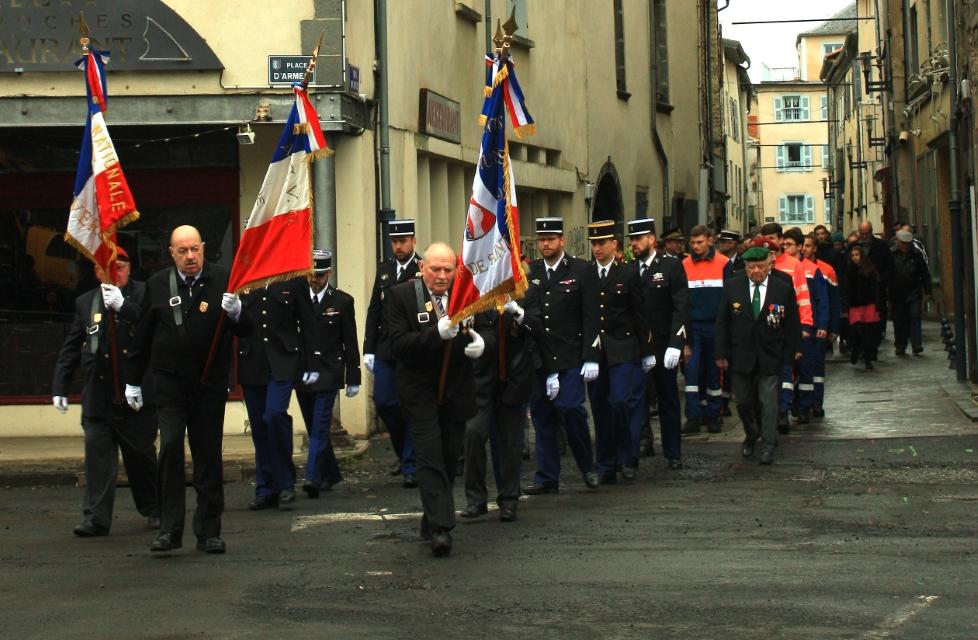 commemoration 8 mai 2019 à Saint-FlOUR