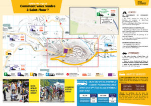 Comment se rendre à saint-flour le 15 juillet tour de france