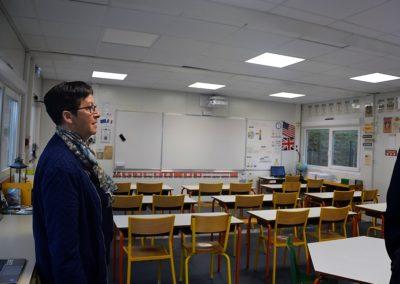 Claudette Brugerolles a procédé à une dernière vérification des salles provisoires quelques minutes avant la rentrée des élèves