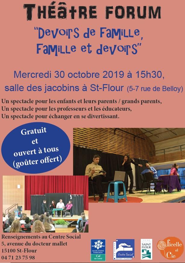 Théâtre Forum : «Devoirs de famille, famille et devoirs»