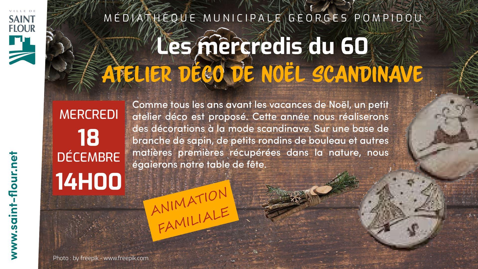 mediatheque Atelier deco noel scandi