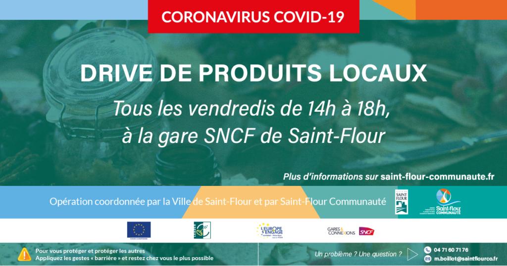 Drive de produits locaux à Saint-Flour dès vendredi 3 avril 2020
