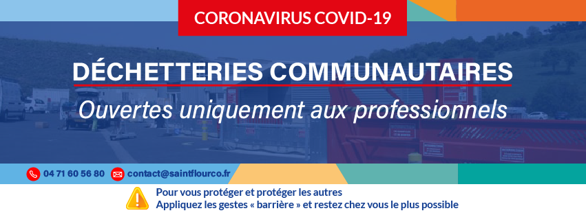 Covid-19   La déchetterie de Saint-Flour ouverte aux professionnels