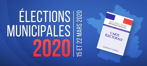 Elections municipales des 15 et 22 mars 2020