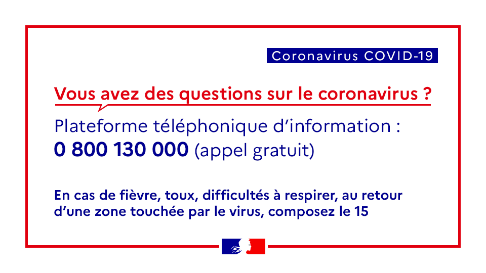 Coronavirus – Recommandations, gestes et numéros utiles