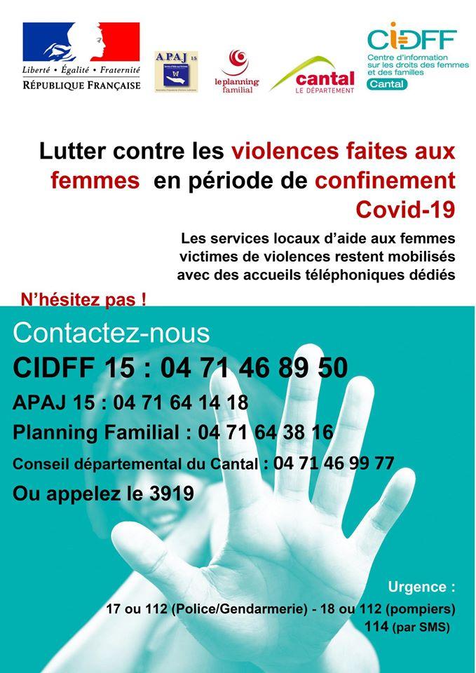 Covid-19   Plan d'urgence relatif aux mesures de protection des femmes victimes de violences intra-familiales et conjugales en période de confinement