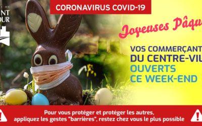 Covid-19   Vos commerçants du centre-ville ouverts pour le week-end de Pâques