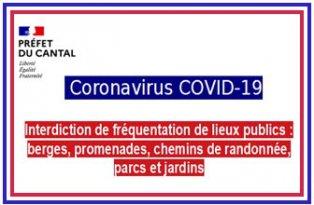 Covid-19   Interdictions aux hébergements à vocation touristique de recevoir du public, et de fréquentation de certains lieux publics