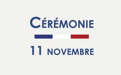 Commémoration : cérémonie du 11 Novembre 1918