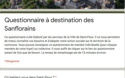 Questionnaire à destination des Sanflorains : votre avis compte !