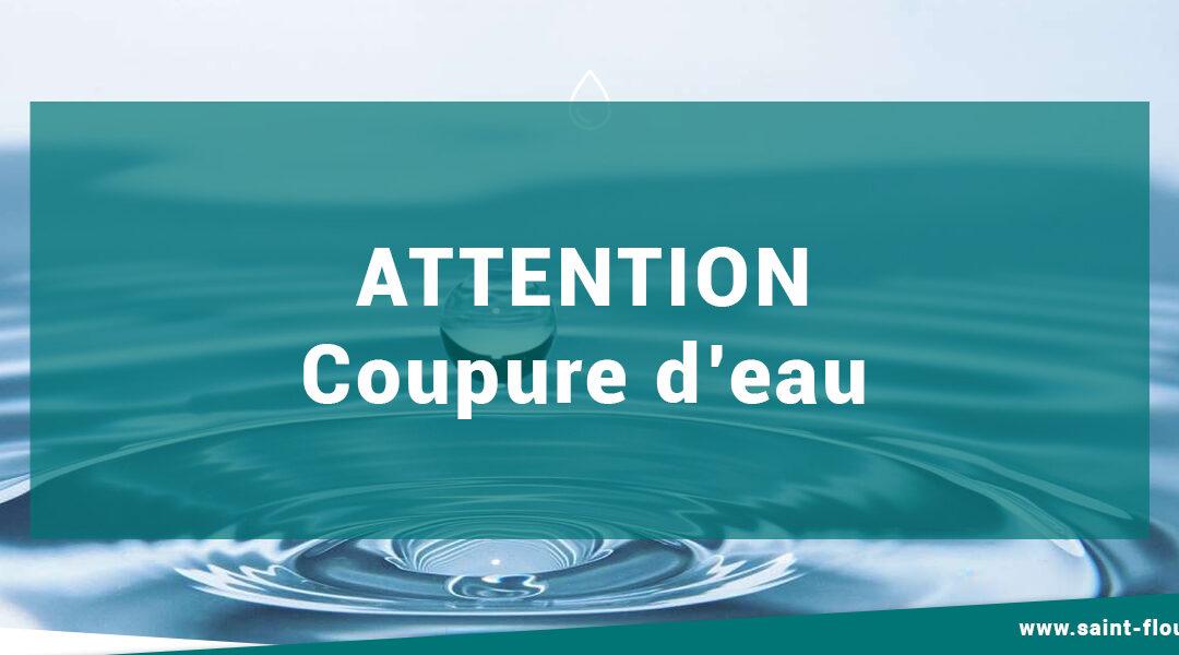 Coupure d'eau : mercredi 14 avril 2021