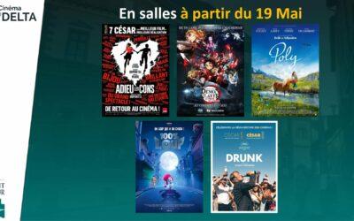 Réouverture du Cinéma Le Delta : mercredi 19 mai 2021