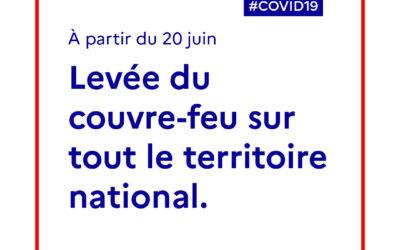 COVID-19   Levée du couvre-feu